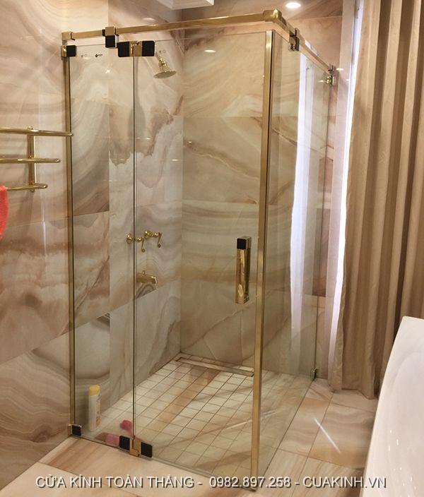 Kính cường lực làm vách kính phòng tắm