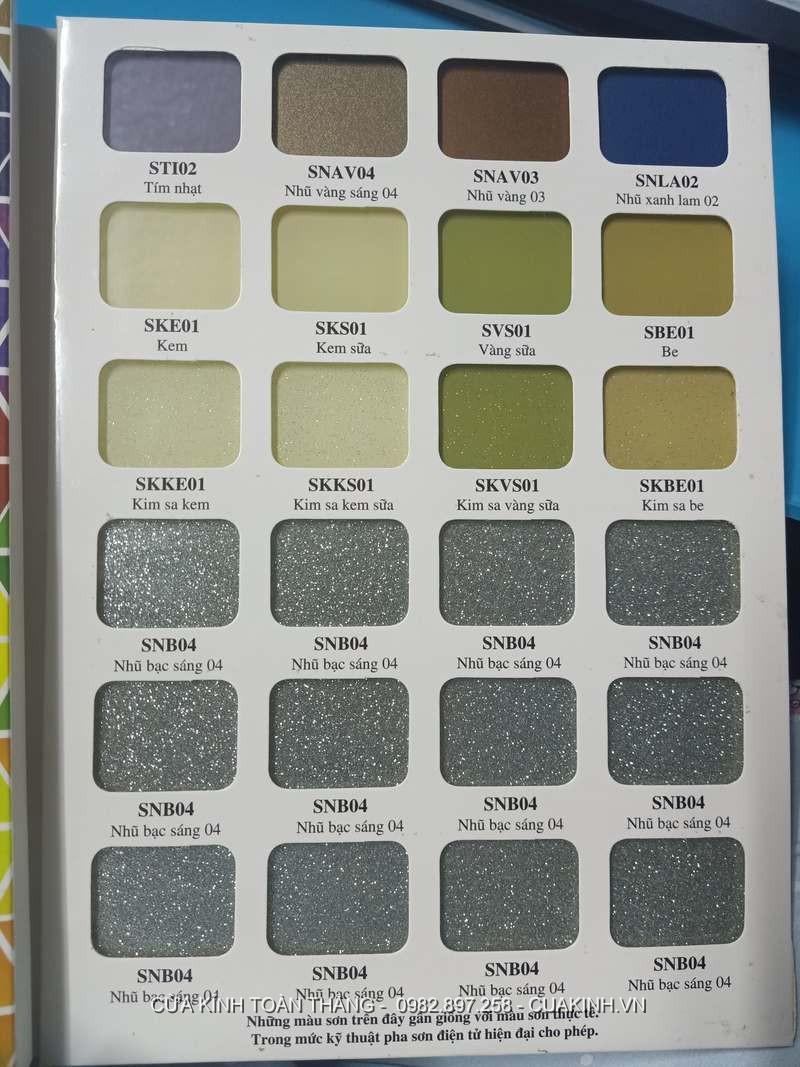 Bảng màu kính ốp bếp bìa số 4