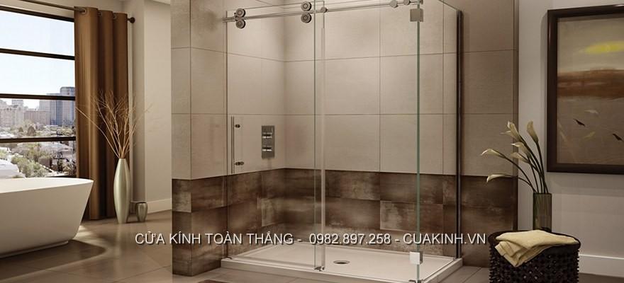 Cửa kính trượt lùa phòng tắm có độ an toàn cao